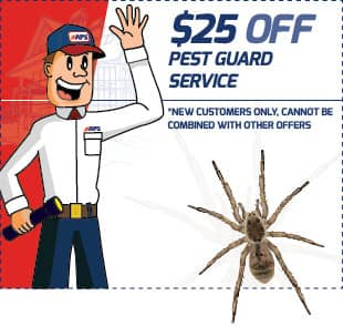 save $25 on pest guard services
